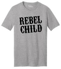 Rebel Child Mens V-Neck T Shirt Country Music Redneck Tee Southern Rebel Gift