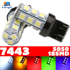 4pcs 7443 T20 Base 5050 18 SMD LED Bulb Tail Turn Light Indicator 6 Colors 12V