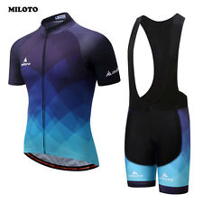 MILOTO Team Summer Bike Clothing Set Men's Ropa Ciclismo Cycling Jersey & Padded