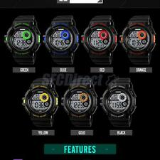 Mens Military Watch Chronograph Alarm Digital Date Sports Waterproof Wristwatch