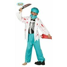Boys Zombie Bloody Doctor Scrubs Halloween Kids Skeleton Fancy Dress Costume
