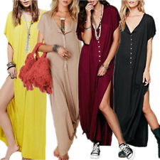 Boho Women Summer V Neck Evening Party Cocktail Dress Beach Long Maxi Sundress