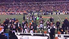 2 FRONT ROW Tickets Bengals vs Tampa Bay Buccaneers 8/11 - Section 109 - Row 1