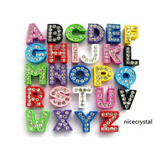 Wholesale 10PCS 8MM colord slide letters charms fit pet collar wristband