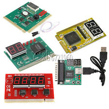 2/4 Digit 3 in1 PCI PCI-E PC Analyzer Analysis Diagnostic USB Card POST Card
