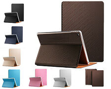 New Luxury Carbon fibre Smart Leather Case Smart cover For Apple iPad Series