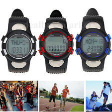 3D Sport Fitness Calories Counter Pulse Pedometer Heart Rate Monitor & Backlight