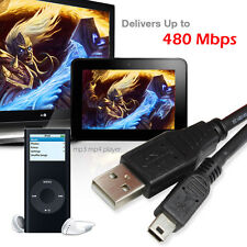 High Speed USB 2.0 A to 5 Pin Mini USB Camera Data Sync Cable