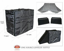 Carrying Case Salesman Gray Medium Jewelry Travel Case & Jewelry Trays & Liners