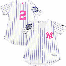 DEREK JETER YANKEES WOMENS NO NAME HOME #2 RETIREMENT PATCH MOTHER'S DAY JERSEY