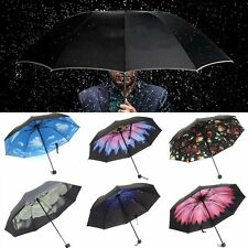 Fashion Women Creative Starry Dome Parasol Sun/Rain Folding Anti-UV Umbrella