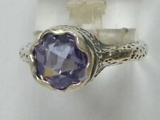Handmade Sterling Silver 925 Ring solitaire Ring Lilac Lavender CZ Ring