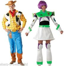 Mens Ladies Couples Toy Story Woody Buzz Lightyear Fancy Dress Costumes Outfits