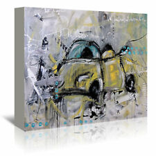 Americanflat Car Yellow by Annie Rodrigue Painting Print on Wrapped Canvas