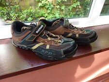 Men's Brown SHIMANO MT42 SPD Cycling Shoes UK 9 EU 43 Used Once Excl Cond