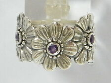 Authentic Ring 925 Sterling Silver Ring Nature Amethyst CZ Purple Ring