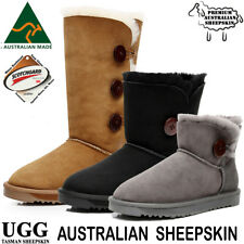 Ugg Boots New Womens Size 5 6 7 8 9  100% Australian Made Sheepskin Button Uggs