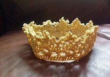 Baby Golden Crown crochet prince princess photo prop 1st birthday baby shower