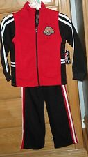 MAD GAME BOYS SWEATSUIT SIZE 4 BASKETBALL RED BLACK 3PC. NWT