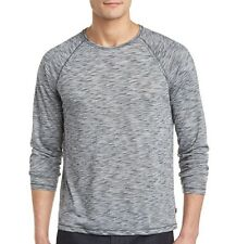 John Varvatos Star USA Men's Raglan Crew T-Shirt Space Dyed Ash HT $98 msrp NWT