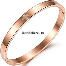 Fashion Mens Womens Silver / Gold Stainless Steel Cuff Bangle CZ Cross Bracelet