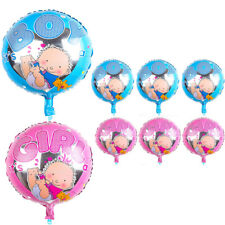 """Its A Girl Boy Baby Shower Christening Round Foil Balloon Party Decoration 18"""""""