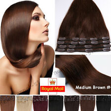Clip In Remy Human Hair Extensions Full Head Real Human Hair 120g Any Color C405