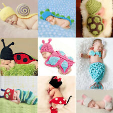 Baby Infant Newborn Animal Knit Costume Photography Prop Crochet Hat Outfits