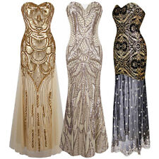 Women Sequins Mermaid Long Maxi Dress Formal Evening Party Cocktail Ball Gown