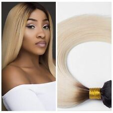 #1B/613 Virgin Straight Ombre 100% Human Hair Extensions Weave Weft Remy hair