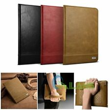 XOOMZ Genuine Leather Book Design Wallet Folio Stand Case Cover  For iPad Air 2
