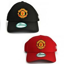 New Era Mens 9FORTY Baseball Cap Manchester United Red Or Black Curved Peak Hat