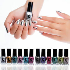 6ml Trendy Metallic Nail Polish Magic Mirror Effect Chrome Nail Art Polish