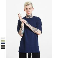 Summer Men's Solid Color Simple Waffle Round Neck Short Sleeve Casual T-shirt