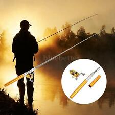Aluminum Alloy Pocket Pen Fishing Pole Reel Set Fishing Rod Reel Combo Kit H7P1