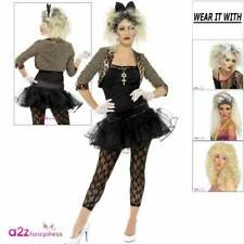 Womens 80s 1980s Wild Child Madonna Adult Ladies Fancy Dress Costume Outfit Wig