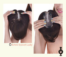 Full Hand Tied Hair piece Toupee 100% Real human hair Replace system 7.9 inch