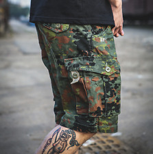 Mens Cotton Blend Army Military Pockets Shorts Sports Cargo Shorts Pants Trouser