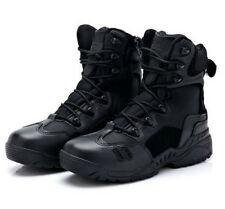 Outdoor Hking Army Tactical Leather Combat Military Ankle Boots Army Shoes