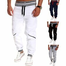 Men's Elastic Long Jogging Pants Pocket Patchwork Trousers Gym Sports Tracksuit
