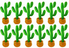 PACK OF 12 INFLATABLE CACTUS 86 CM MEXICAN SCENE SETTER PARTY DECORATION