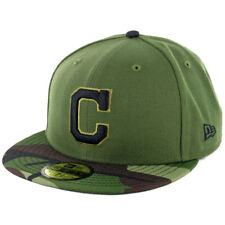 """New Era 59Fifty Cleveland Indians """"Memorial Day 2017"""" Fitted Hat Men's Camo Cap"""