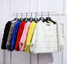 Women Winter Real Whole Mink Fur Cape Luxury Poncho Shawl Pocket Yellow P0222