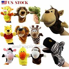 Animal Wildlife Hand Glove Puppets Finger Role Pretend Play Kid Baby Push Toys