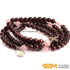 "Handmade Assorted Stones Beaded Prayer Rosary Jewelry Bracelet Necklace 30"" YB"