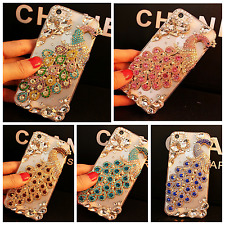 Bling 3D Luxury Handmade Jewelled Crystal Diamond Case Cover For iPhone Samsung