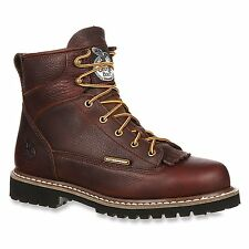"Waterproof Georgia Men's 6"" Lace-to-Toe Low Cut Logger Work Boot (GBOT052)"