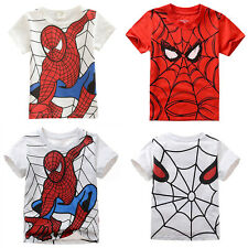Baby Kids Boys Clothes Short Sleeve Spiderman Costume Tee Tops Shirts T-Shirt
