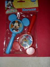 ONE EACH 6 INCH  DISNEY MICKEY MOUSE  AND DONALD DUCK MARACAS BRAND NEW
