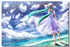 Poster Silk Hatsune Miku Vocaloid Music Anime Kakashi Japan Anime Room Print 522